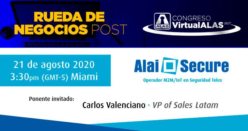 AlaiSecure - Noticias: Rueda de negocios post Congreso Virtual ALAS