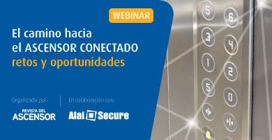 """Webinar Alai Secure y Revista del Ascensor: """"El camino hacia el ascensor conectado, retos y oportunidades"""""""
